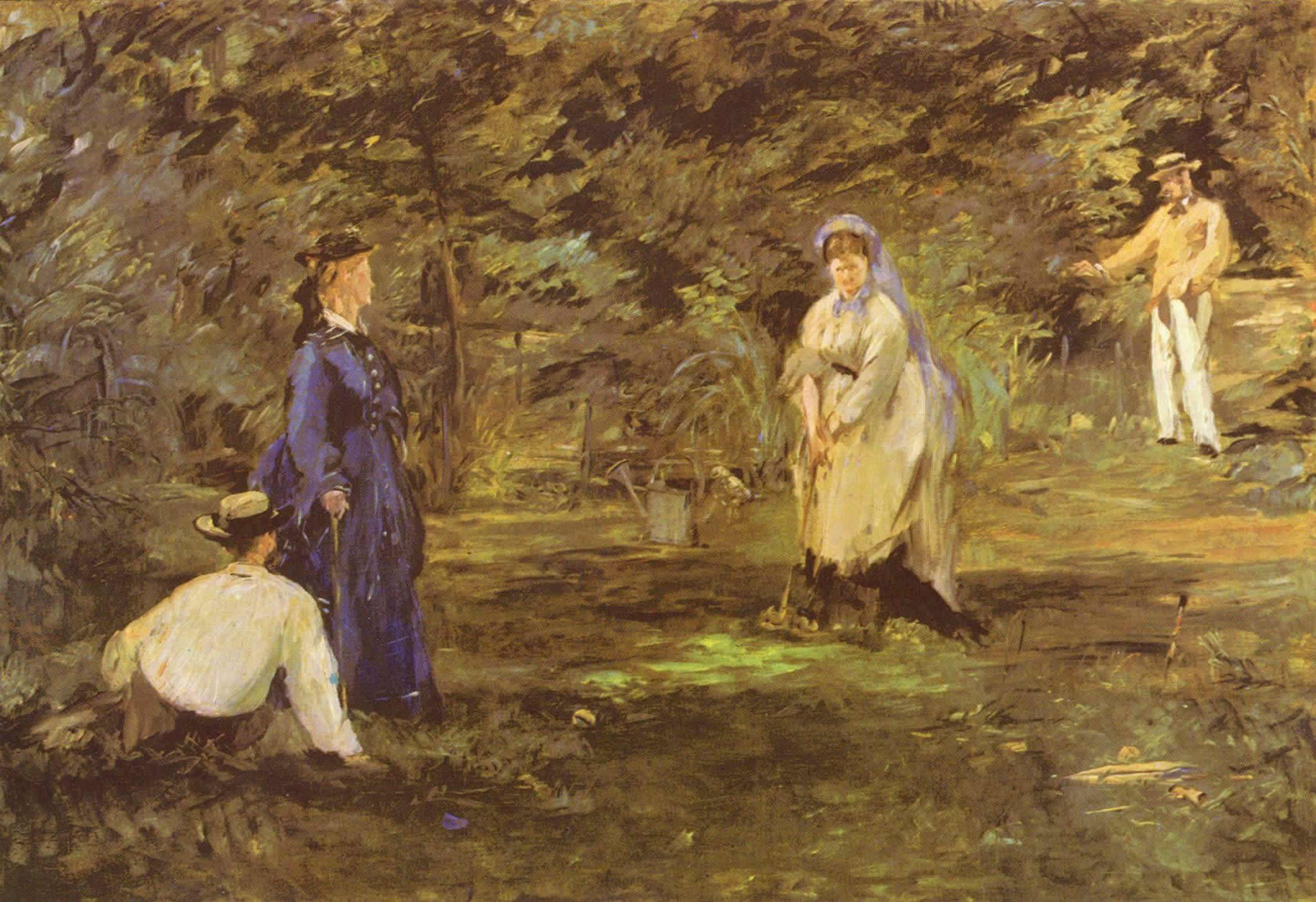 The Croquet Game, Édouard Manet
