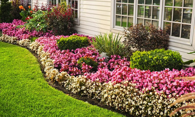 Beautiful edging around garden