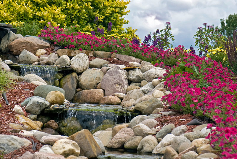 Landscaping with rocks - commercial landscaping