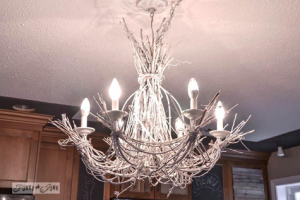 White Twig Chandelier